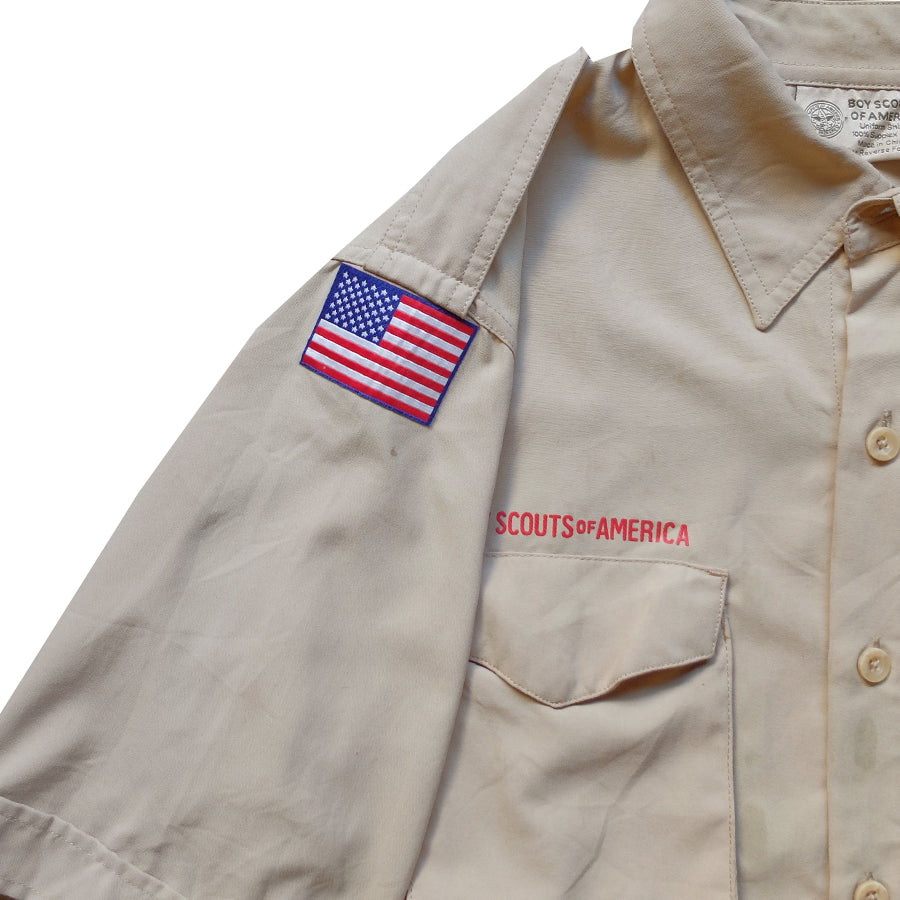 Boy Scout Patched Shirt - S