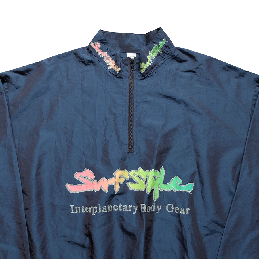 Surf Style Dark Blue Interplanetary Windbreaker - Fits S-M