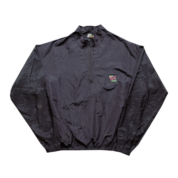 Surf Style Black Interplanetary Windbreaker - Fits S-M
