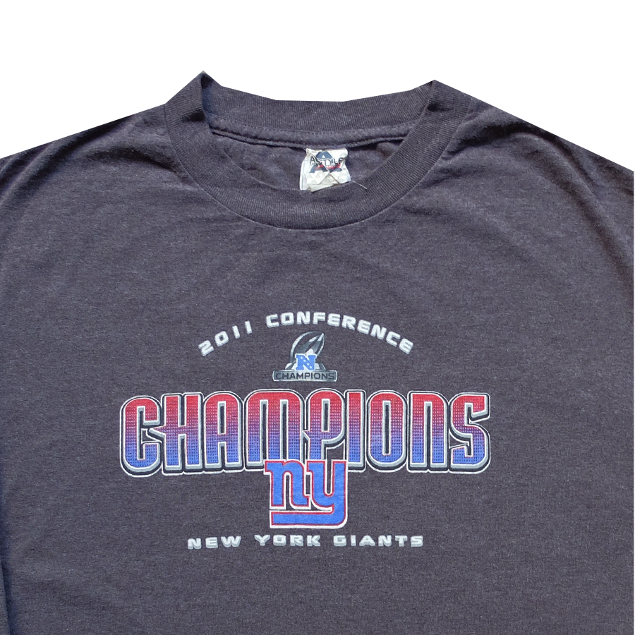 2011 NFL New York Giants Conference Champions Tee -L