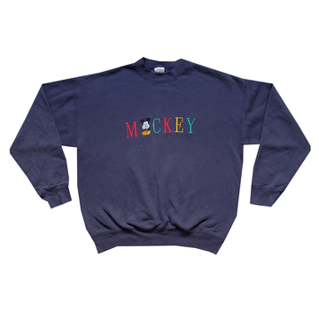 90s Disney Mickey Mouse Embroidered Crewneck - L