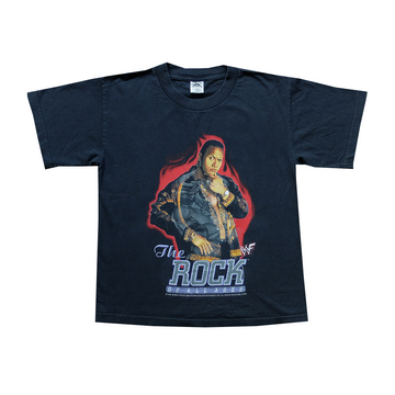 2000 WWF The Rock of All Ages Tee - Youth L