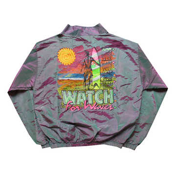 Surf Style Purple/Green Watch for Waves Interplanetary Windbreaker - Fits XS-S