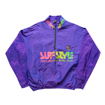 Surf Style Purple Interplanetary Windbreaker - Fits M-L
