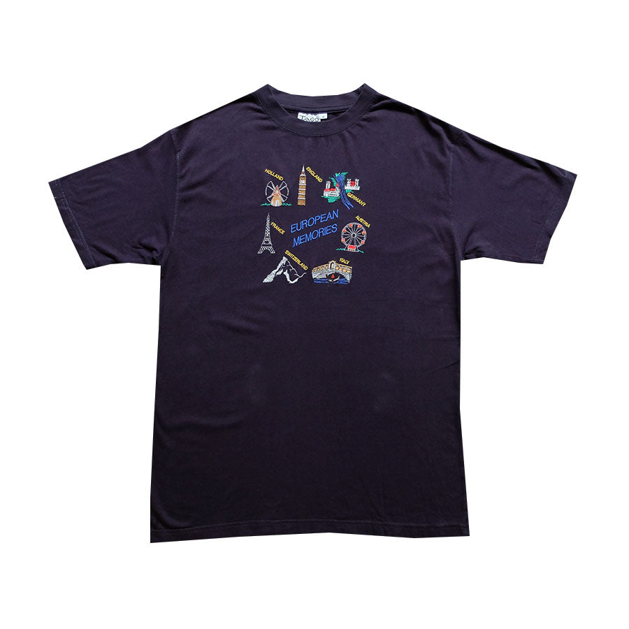 European Memories Embroidered Tee - M