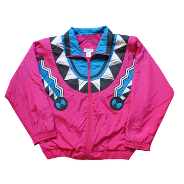 Lavon Patterned Windbreaker - M