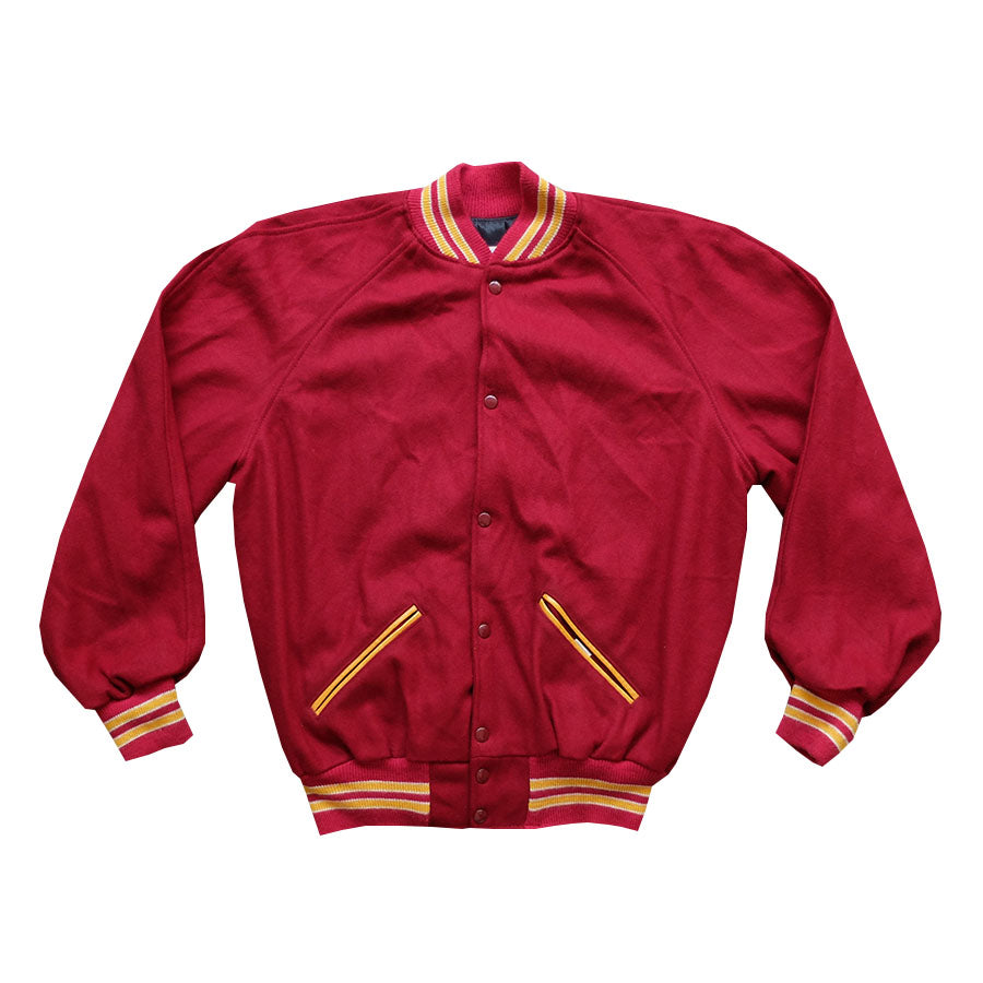 80s Red & Mustard Varsity Jacket - XL
