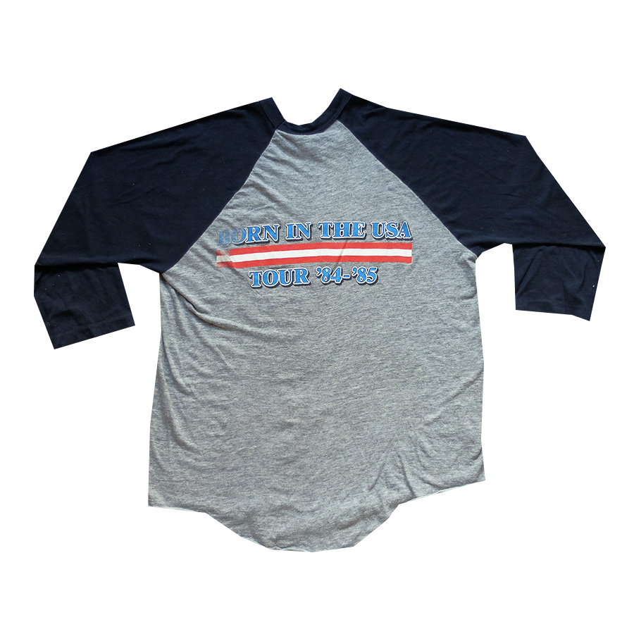 1984-1985 Bruce Springsteen Born In the USA Tour Raglan Tee - L
