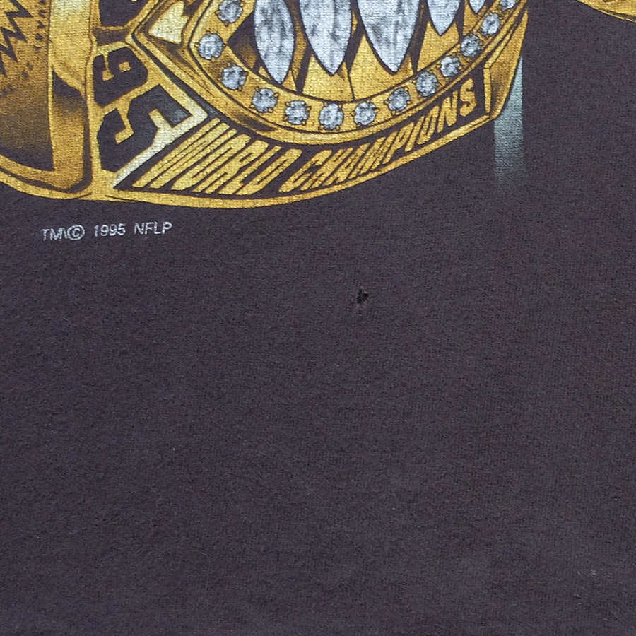 1995 NFL San Francisco 49ers Five Time Super Bowl Champions Tee - M