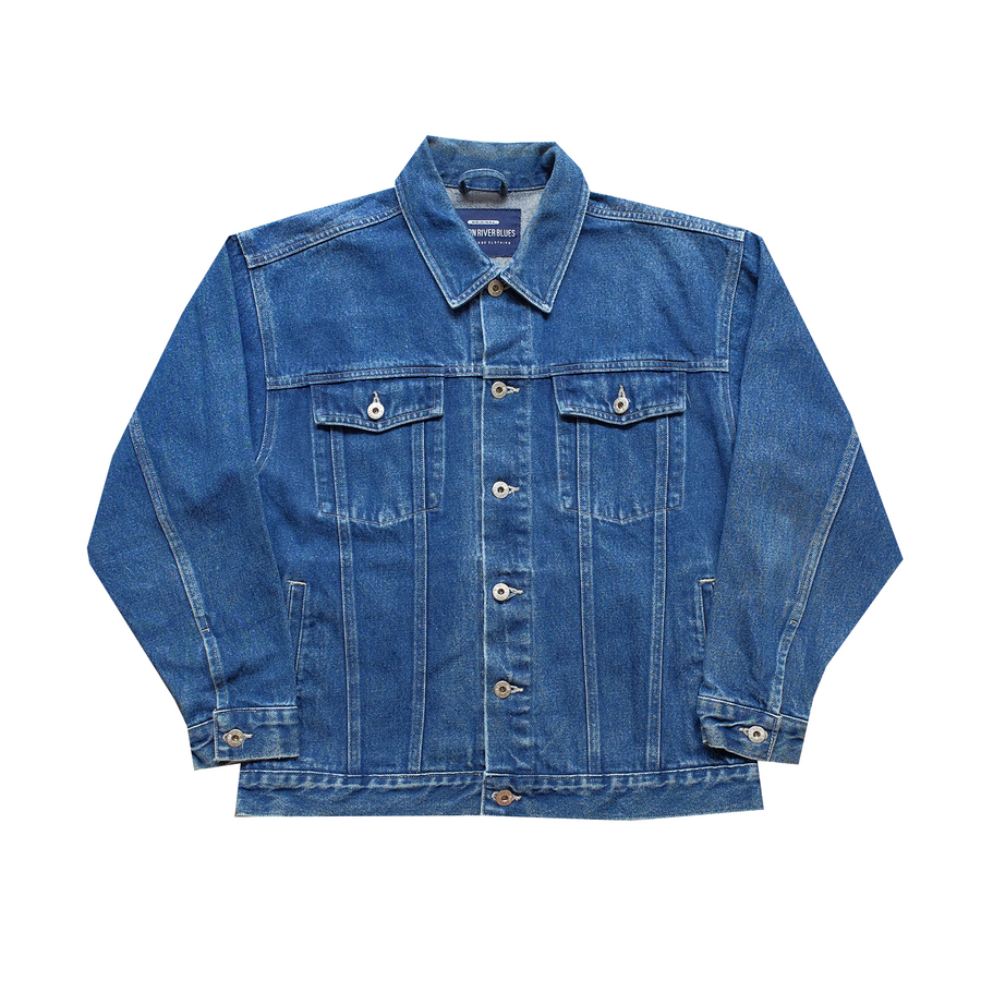 Canyon River Blues Embroidered Denim Jacket  - L