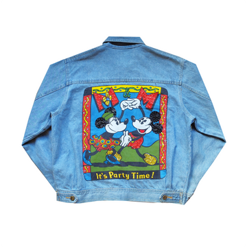 Mickey & Co Printed Denim Jacket - M