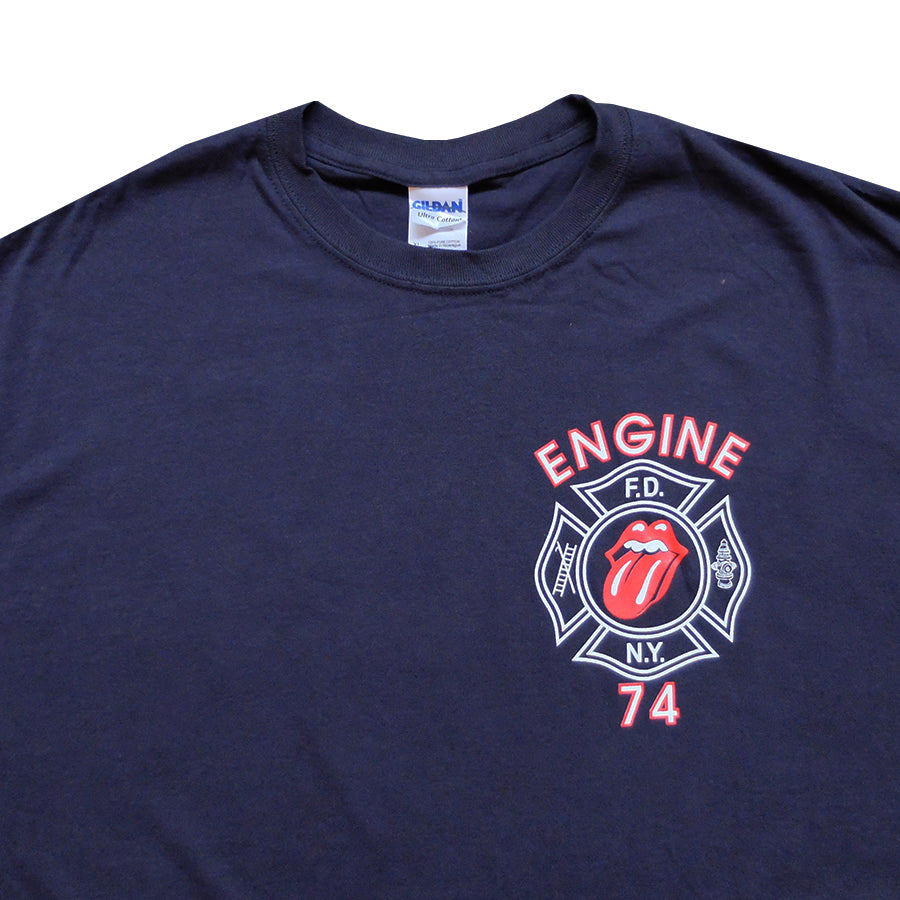 2011 9/11 10th Anniversary FDNY Engine 74 Rolling Stones Tee - XL