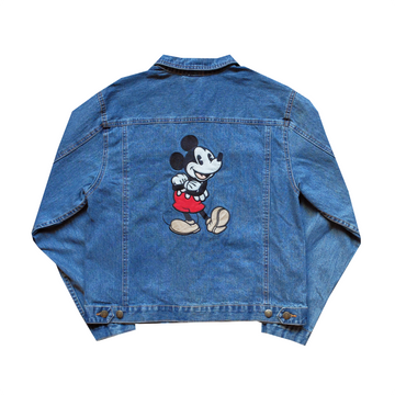 Disney Mickey Mouse Patched Denim Jacket - L