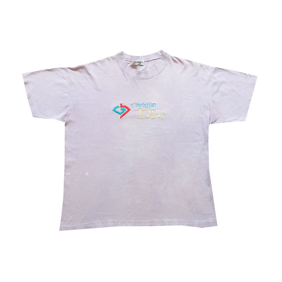 90s Christian Dior Embroidered Tee - L