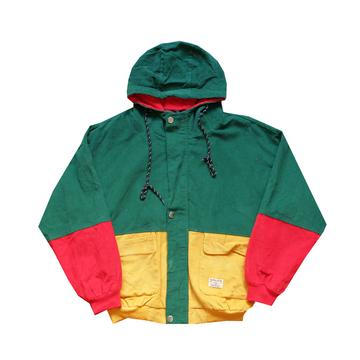 Zaful Multicolored Hooded Corduroy Jacket - S