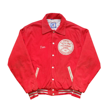 1989 Polish Hall Softball Team Embroidered Corduroy Jacket - XL