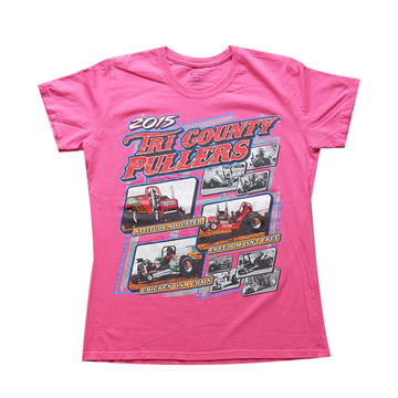 2015 Tri County Pullers NASCAR Racing Tee - Womens L