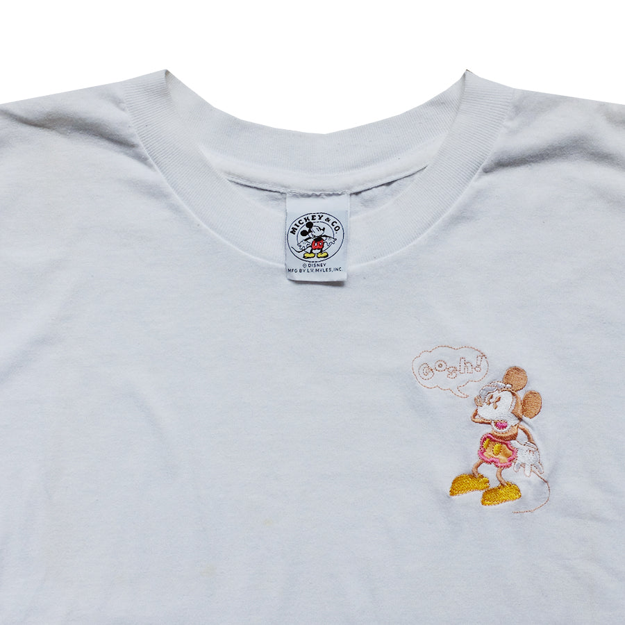 Mickey Embroidered Gosh Tee - M