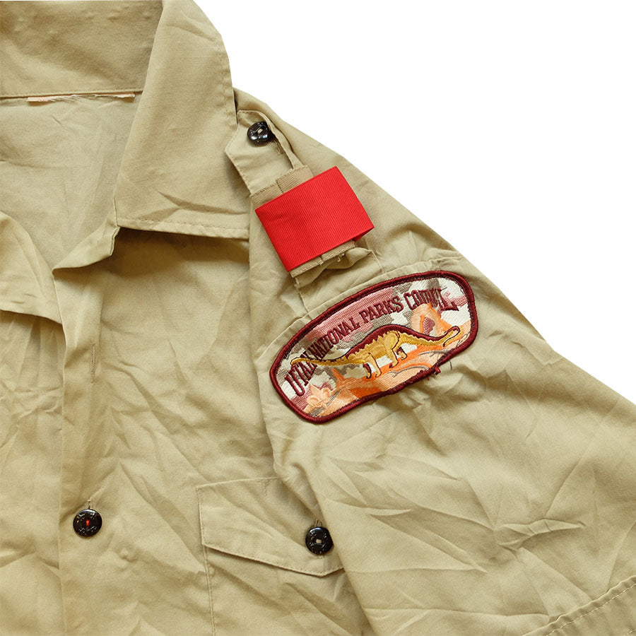 Boy Scout Patched Shirt - L