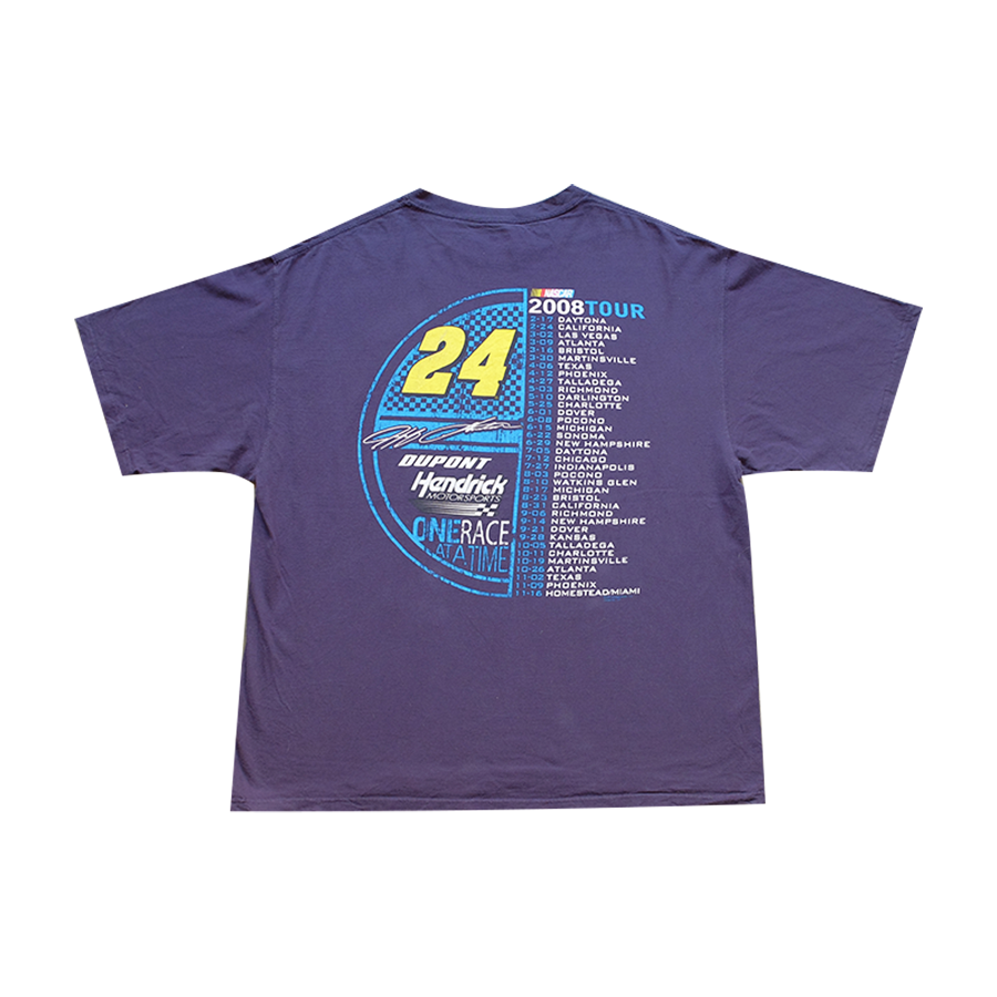 2008 Tour Jeff Gordon One Race At A Time NASCAR Racing Tee - 2XL