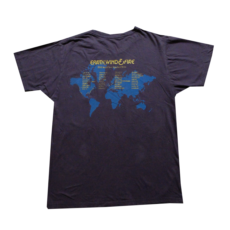 2010 Earth Wind and Fire World Tour Signature Series Tee - M