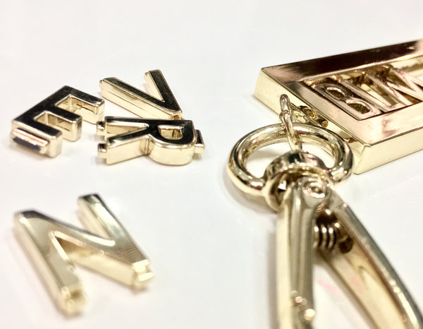 Gold letters and Keyring
