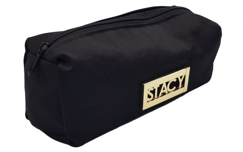 Make up bag black gold