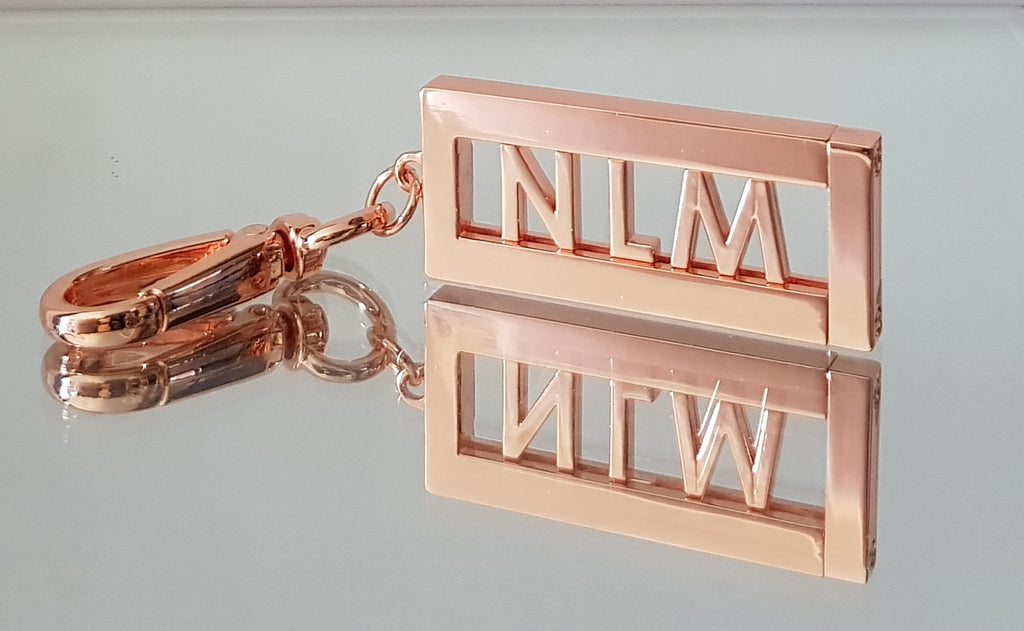 Rose Gold Keyring personlized