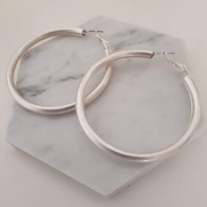 Bold hoops - Silver