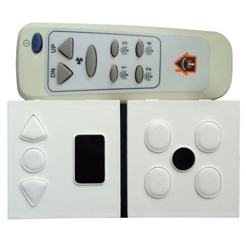 Wireless remote control switch for Lights & Fan ( 4 Lights+1 Fan)