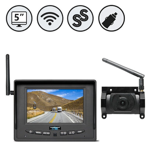 "SIMPLESIGHT™ Digital Wireless Backup Camera System For Pre Wire Kit | 5"" LED Monitar - 1036"