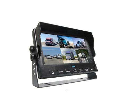 "9"" Led 6 Channel Split Screen Monitor With Built-IN DVR -RVS-96D - 1036"