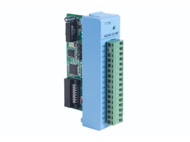 7-ch Thermocouple Input Module with Independent Input Range- ADAM 5018P -1002