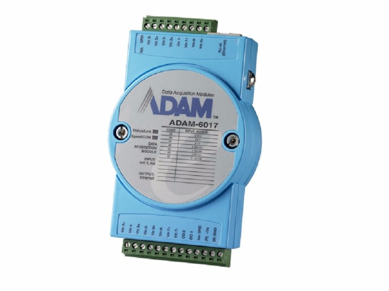 8-ch Isolated Analog Input Modbus TCP Module with 2-ch DO - ADAM 6017 - 1002