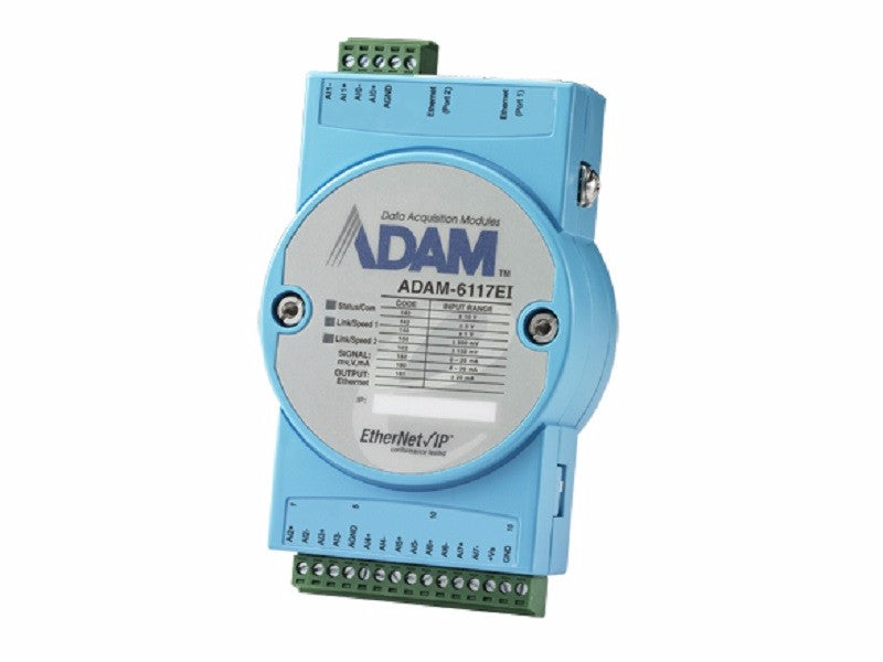 8-ch Isolated Analog Input EtherNet/IP Module - ADAM 6117EI -1002