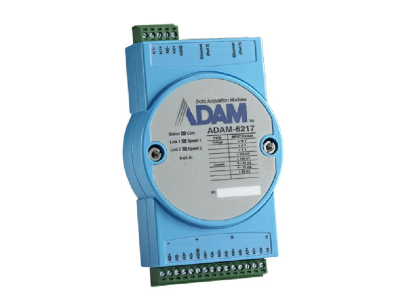 8-ch Isolated Analog Input Modbus TCP Module- ADAM-6217 -1002