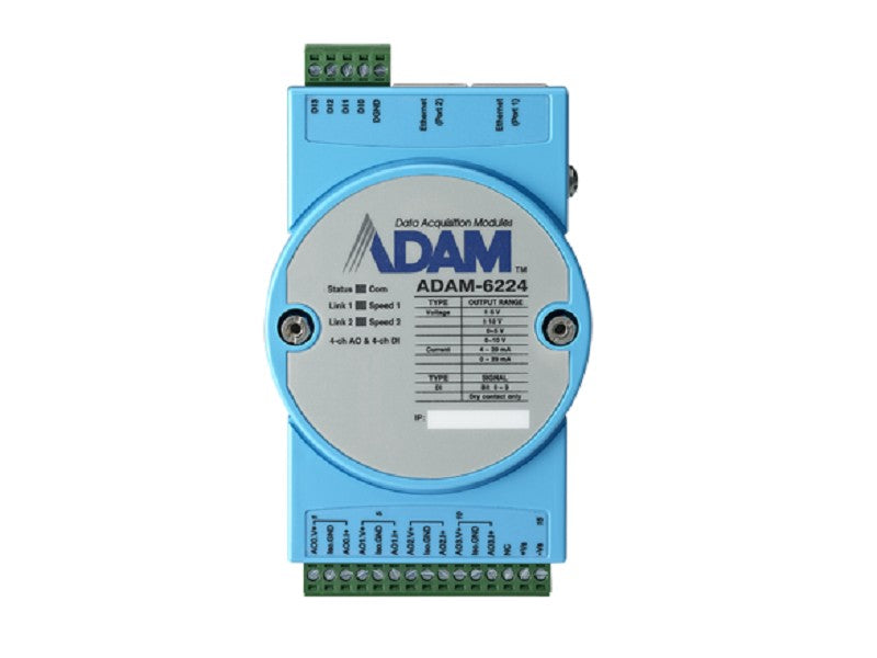 4-ch Isolated Analog Output Modbus TCP Module - ADAM-6224 -1002