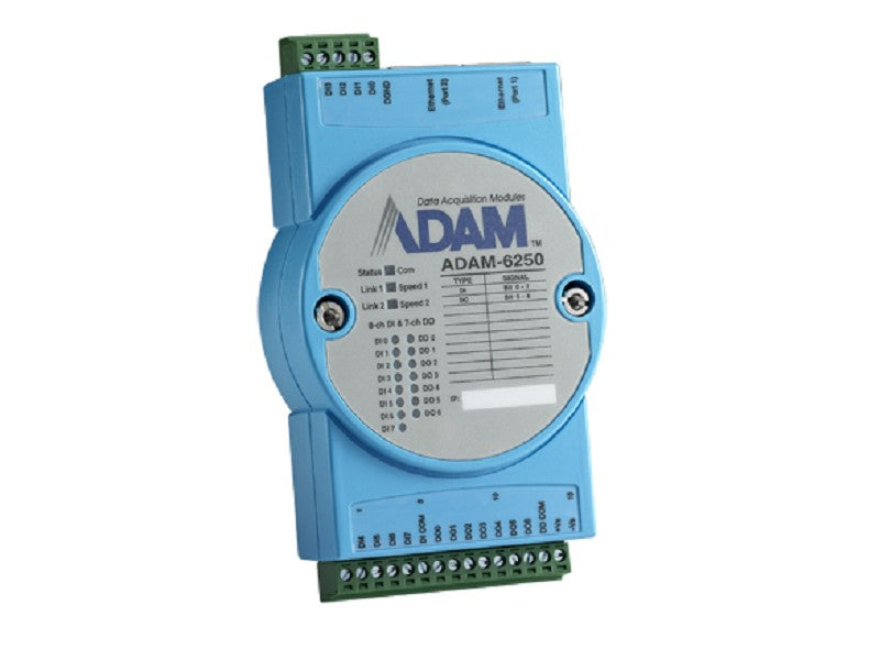 15-ch Isolated Digital I/O Modbus TCP Module - ADAM-6250 -1002