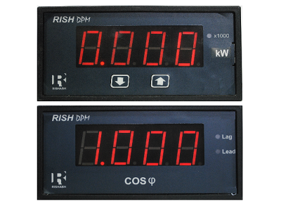 4 digit Power & Power Factor DPM (72x144)