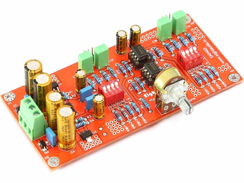 High Fidelity Stereo Pre-amplifier with Volume Control and Regulated Supply  -1017