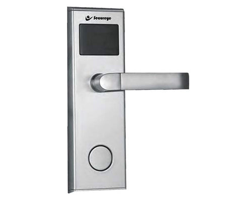 Hotel Lock With Key card & Machincal key(silver) -1041