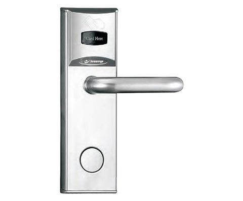 Hotel Lock With Key card & Machincal key(silver)(LH/RH)-S-HL50 1041