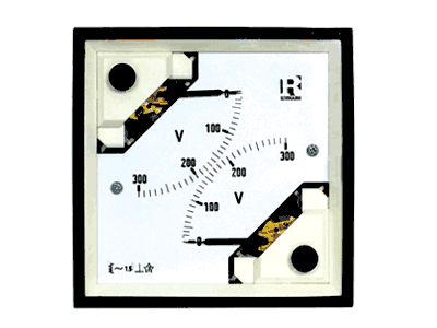 Dual Moving Iron AC Low rating (<30A) Ammeter (EQ 2 in 1) - 1038