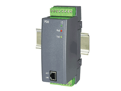 Converter of the RS485 / Ethernet - PD8