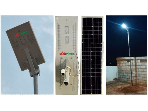 All In One Solar LED Street Light - 12W 1045