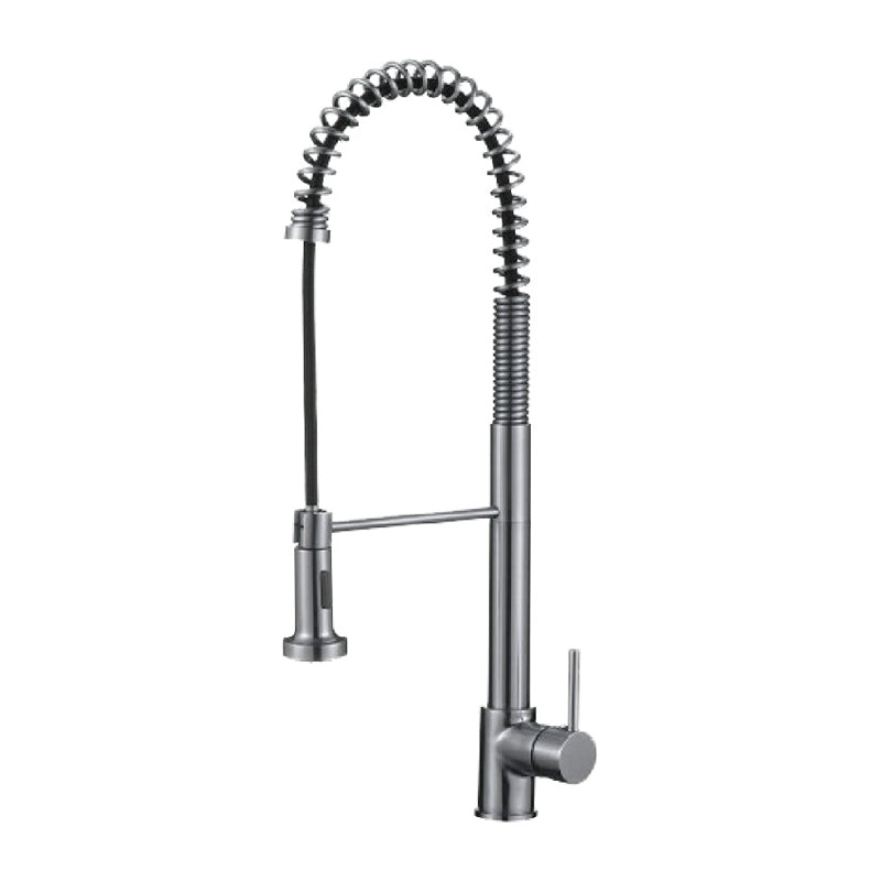 Single Hdle Sink Faucet Brass Body 24¨ High Spout W/Plate