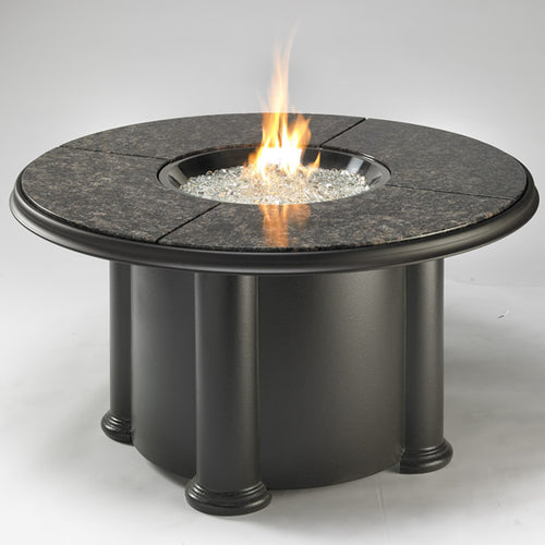 Outdoor Greatroom Colonial Chat Fire Pit Table with Grand Colonial Granite Top - 183-COLONIAL-48-GC-K