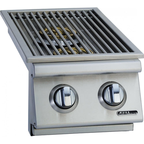 Bull Built-In Natural Gas Double Side Burner W/ Stainless Steel Lid - 30008/9
