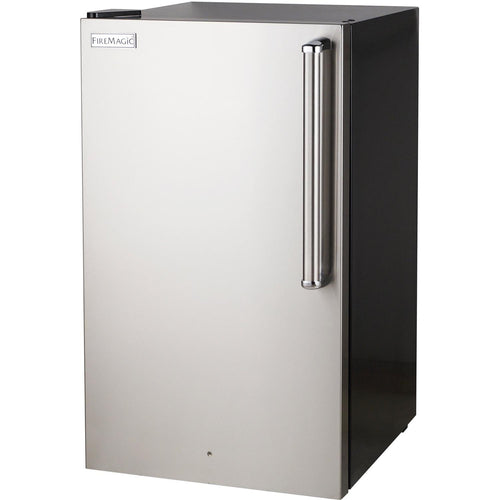 Fire Magic 20-Inch 4.0 Cu. Ft. Premium Left Hinge Compact Refrigerator - Stainless Steel Door / Black Cabinet - 3598-DL