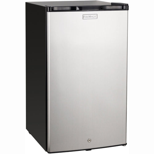 Fire Magic 20-Inch 4.0 Cu. Ft. Compact Refrigerator - Stainless Steel Door / Black Cabinet - 3598 - The Garden District